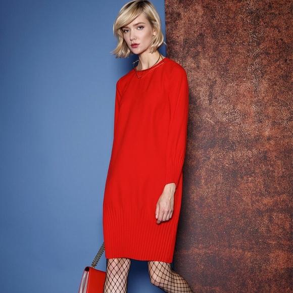 ac57122183d3 COS Dresses | Red Long Sleeve Nightout Dress | Poshmark